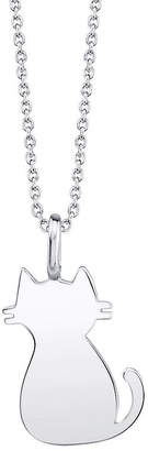 Footnotes Cat Womens Sterling Silver Pendant Necklace