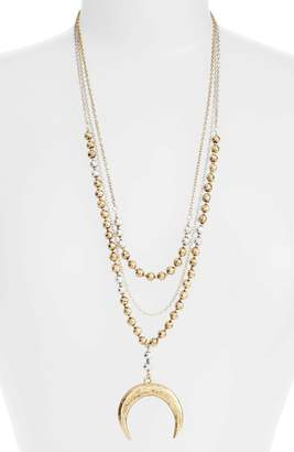 Karine Sultan Multistrand Pandant Necklace