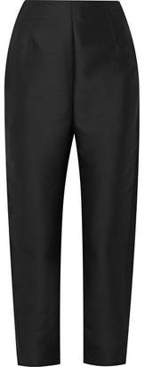 Totême Elda Wool-blend Tapered Pants - Black