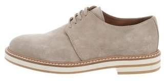 Eleventy Round-Toe Suede Oxfords F/W 2016