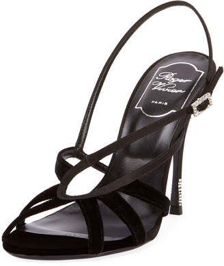 Roger Vivier Sin Star Velvet and Satin Sandals
