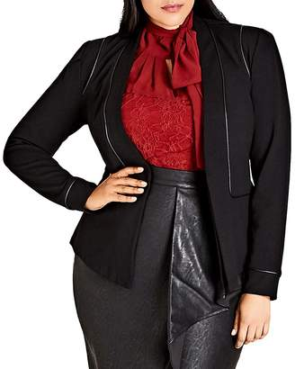 City Chic Piping Praise Jacket