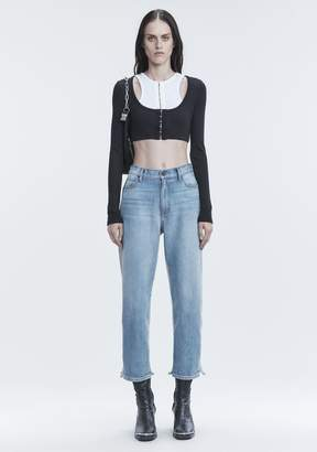 Alexander Wang RIBBED CROP TOP