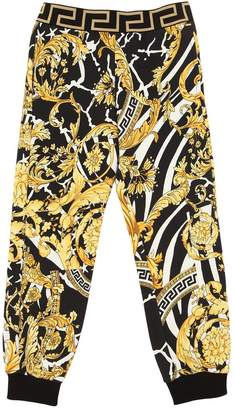 Versace BAROQUE PRINT COTTON SWEATPANTS