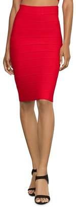 BCBGMAXAZRIA Leger High Waist Banded Skirt
