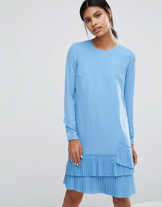 Warehouse Pleated Hem Shift Dress $68 thestylecure.com