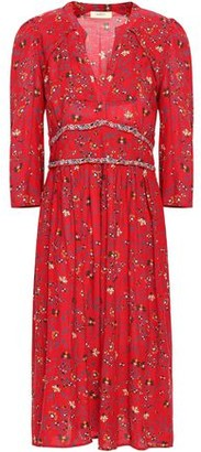 BA&SH Festina Floral-print Woven Midi Dress