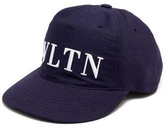 Valentino Logo Embroidered Canvas Cap - Mens - Navy