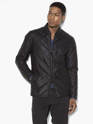 John Varvatos Quilted Zip Up Jacket