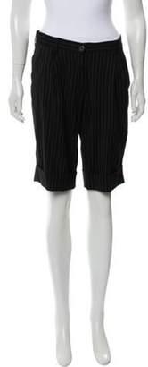 Dolce & Gabbana Pinstripe Wool-Blend Shorts Black Pinstripe Wool-Blend Shorts
