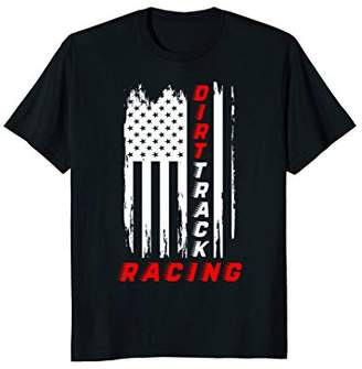 Dirt Track Racing American Flag T-Shirt