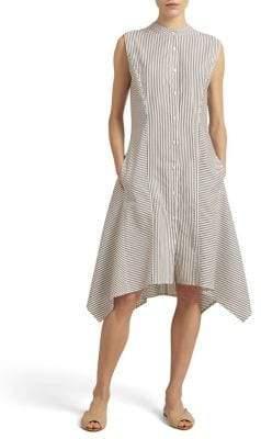 Donna Karan Striped A-Line Dress