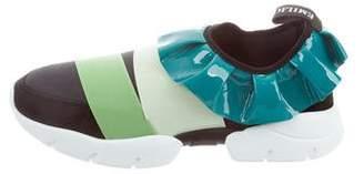 Emilio Pucci 2017 Ruffle Sneakers w/ Tags