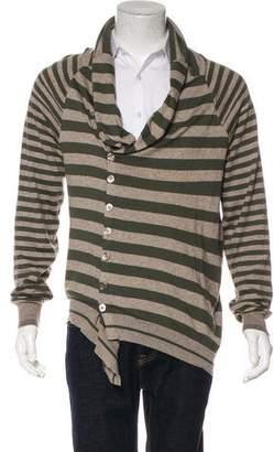Alexander McQueen Cashmere-Blend Striped Cardigan