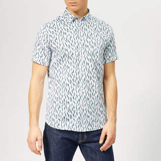 Ted Baker Men's Woolrus Patterned Short Sleeve Shirt