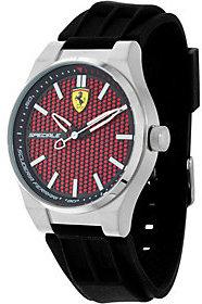 FerrariFerrari Men's Black Silicone Strap Speciale 3H Watch