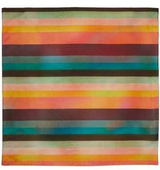 Paul Smith Artist Stripe Silk Pocket Square - Mens - Multi