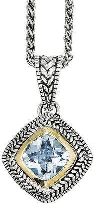 Couture FINE JEWELRY Shey Genuine Sky Blue Topaz Sterling Silver 14K Gold Necklace