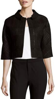 Carolina Herrera Women's Weave-Pattern Wool-Blend Jacket