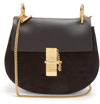 Chloé Drew Small Leather And Suede Cross Body Bag - Womens - Black