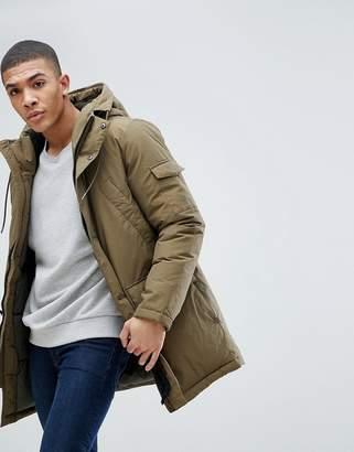 Esprit Parka With Fleece Lined Hood And Hand Warmer Pockets