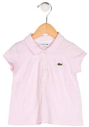 Lacoste Girls' Appliqué-Accented Knit Top