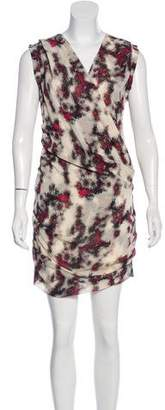 IRO Abstract Print Silk Dress