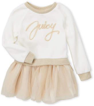 Juicy Couture Toddler Girls) Tulle Logo 2fer Sweater Tutu Dress