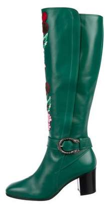4d61e4df885 Gucci Dionysus Floral Embroidered Boots