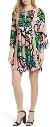 Kas Ancona Mod Print Shift Dress