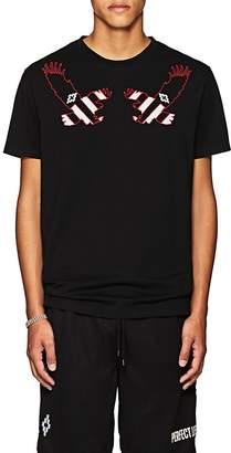 Marcelo Burlon County of Milan Men's Eagle-Embroidered Cotton T-Shirt