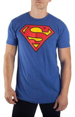 DC Comics Superman Men's Royal Blue Superman Logo Tee, Up to 3XL Tall and 4XL Big
