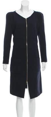 Leroy Veronique Wool Zip-Up Dress