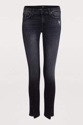 7 For All Mankind Twisted cropped skinny jeans