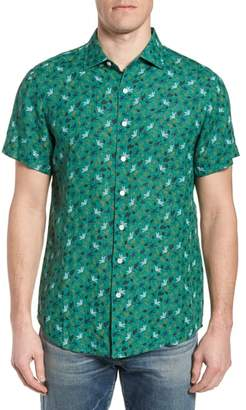 Rodd & Gunn Canoe Creek Tropical Print Linen Sport Shirt