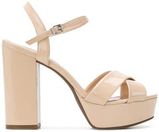 Schutz chunky high heel sandals
