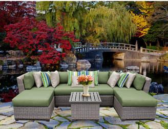 tk.TAKEO KIKUCHI Classics Florence 7 Piece Rattan Sectional Seating Group with Cushions Cushion