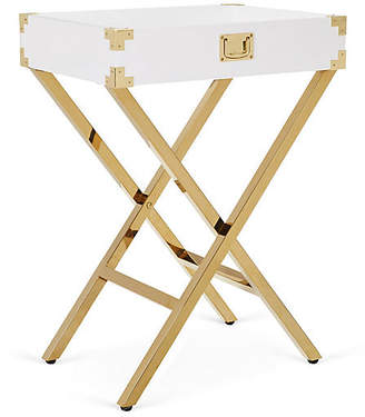 One Kings Lane Hayden Campaign-Style Tray Table - White