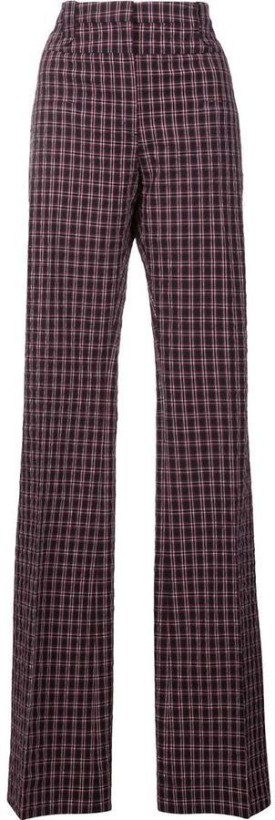 Altuzarra straight plaid trousers