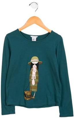 Little Marc Jacobs Girls' Printed Long Sleeve Top