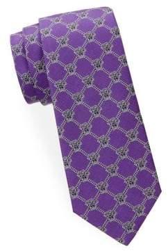 Versace Diamond Pattern Logo Silk Tie