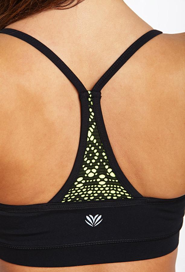 Forever 21 Medium Impact- Crochet Yoga Sports Bra