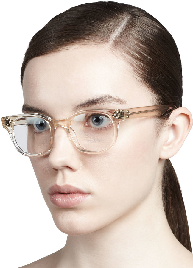 Oliver Peoples Afton Clear Fashion Glasses, Buff