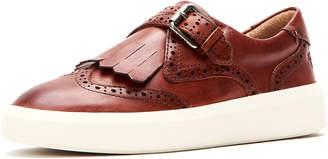 Frye Brea Leather Wing-Tip Kiltie Skate Sneakers