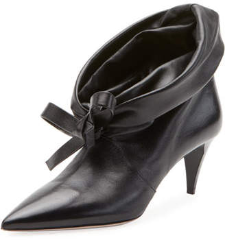 Miu Miu Fold-Down Leather Booties