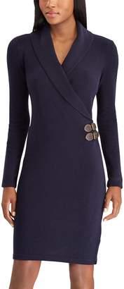 Chaps Women's Buckled Wrap Sheath Dress