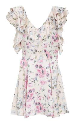 LoveShackFancy Frankie Floral Mini Dress