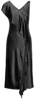 HUGO BOSS Ruffled Dress Kami 4 Black