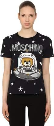 Moschino Logo Printed Jersey T-Shirt