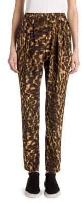 Stella McCartney Christine Leopard Camo Silk Joggers